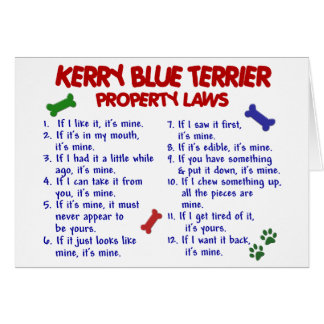 KERRY BLUE TERRIER Property Laws 2 Card