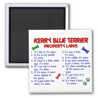 KERRY BLUE TERRIER Property Laws 2 Magnet