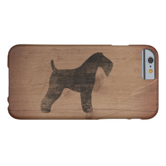 Kerry Blue Terrier Silhouette Rustic Barely There iPhone 6 Case