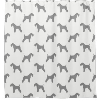 Kerry Blue Terrier Silhouettes Pattern Shower Curtain