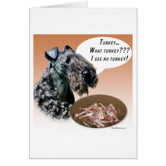 Kerry Blue Terrier Turkey Card