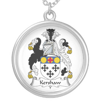 Kershaw Family Crest Silver Plated Necklace