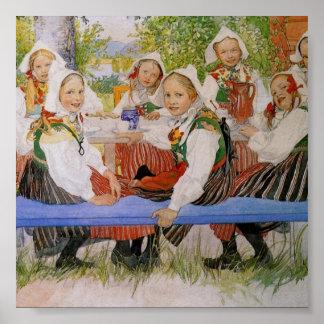 Kersti's Birthday 1909 Print