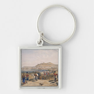 Kertch from the North, plate from 'The Seat of War Silver-Colored Square Key Ring