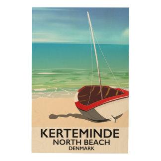 Kerteminde North Beach Denmark Travel poster