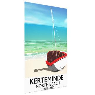 Kerteminde North Beach Denmark Travel poster Canvas Print