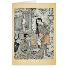 Kesa Gozen of the Heian Period by Torii, Kiyonaga Card