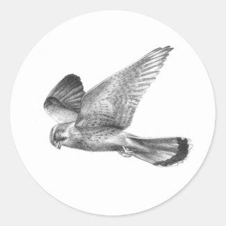 Kestrel Round Sticker