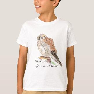 Kestrel Sparrow Hawk, Watercolor Bird T Shirt