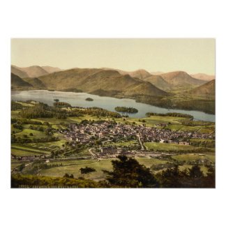 Keswick II Derwentwater Lake District England Print