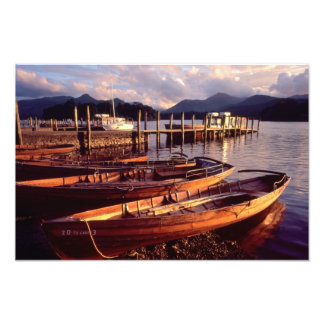Keswick rowing boats - Derwentwater Photo Print