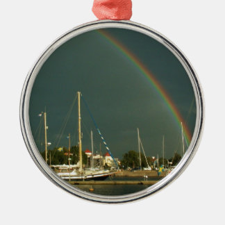 Ketch and Rainbow Christmas Ornament