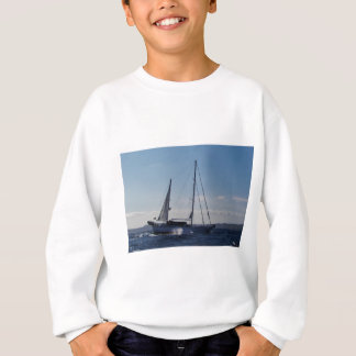 Ketch motoring into headwind. sweatshirt