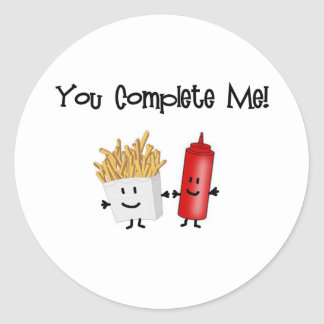 Ketchup and Fries! Classic Round Sticker