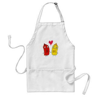 Ketchup and Mustard Standard Apron