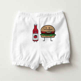 Ketchup Bottle Hamburger Tomato Sauce condiment Nappy Cover