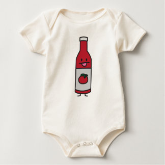 Ketchup Bottle Tomato Sauce Table condiment fancy Baby Bodysuit