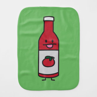 Ketchup Bottle Tomato Sauce Table condiment fancy Baby Burp Cloth