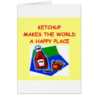 ketchup card
