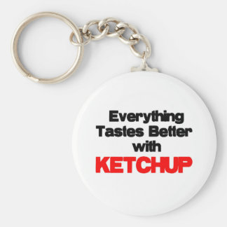 KETCHUP LOVER BASIC ROUND BUTTON KEY RING