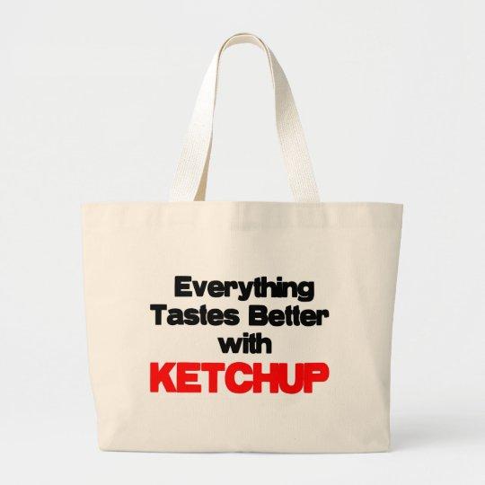 KETCHUP LOVER LARGE TOTE BAG