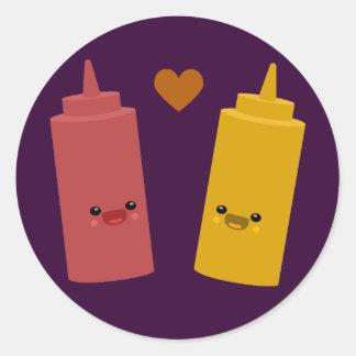 Ketchup & Mustard Friends Classic Round Sticker