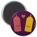 Ketchup & Mustard Friends Magnets