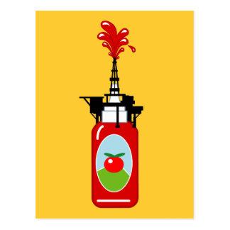 Ketchup Oil Rig Postcard