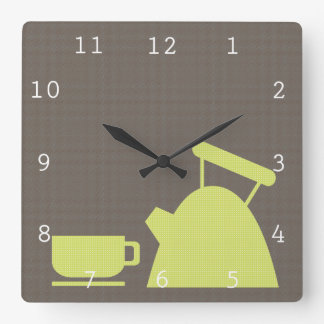 Kettle and Tea Cup Wallclock