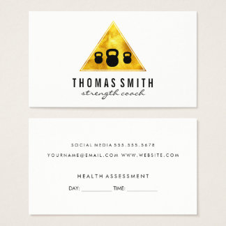 Kettle Bell Personal Trainer Appointment Business Card
