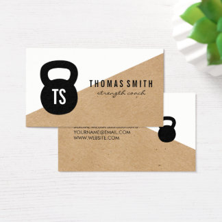Kettle Bell Personal Trainer Geometric Business Card