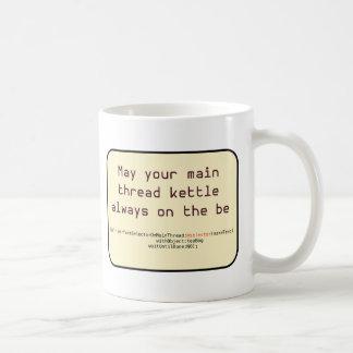 Kettle on Main Thread Basic White Mug