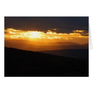 Kettle Pond Sunset Card