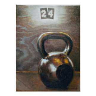 Kettlebell Archival Quality Poster