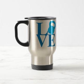 Kettlebell Love 15 Oz Stainless Steel Travel Mug