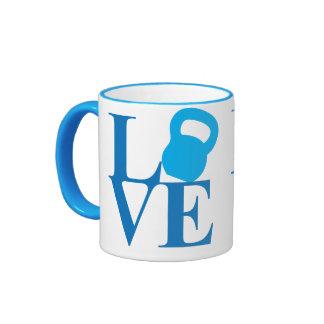 Kettlebell Love Ringer Coffee Mug