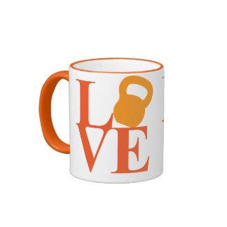Kettlebell Love Ringer Mug
