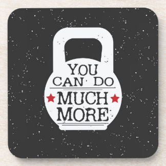 Kettlebell Print - You Can Do Much More Drink Coaster