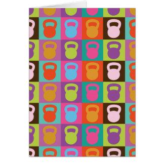Kettlebell Retro Pattern - Card
