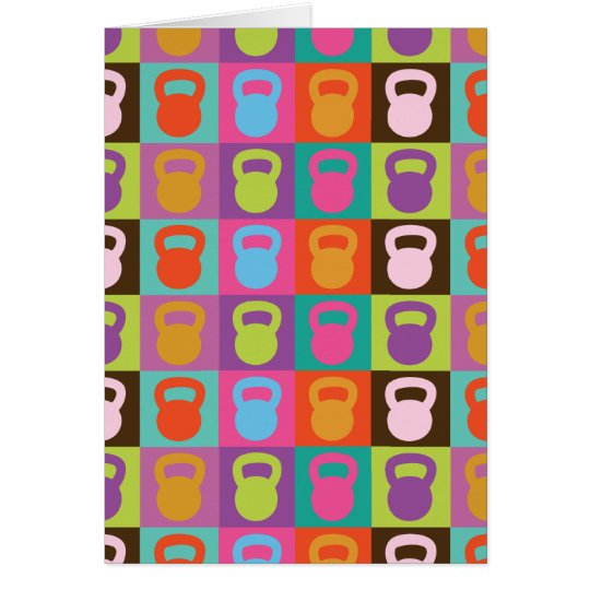 Kettlebell Retro Pattern - Card