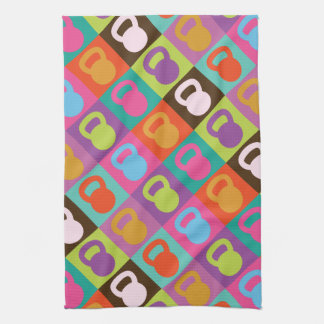 Kettlebell Retro Pattern - Towel