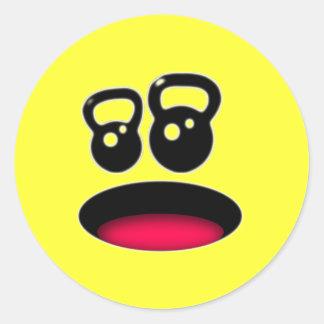Kettlebell Smiley Sticker