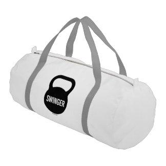 Kettlebell Swinger Gym Duffel Bag