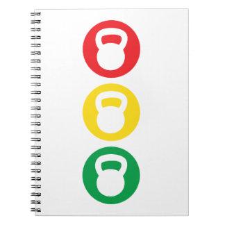 Kettlebell Traffic Light - Ready Set Go Note Books