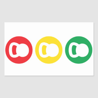 Kettlebell Traffic Light - Ready Set Go Rectangular Sticker