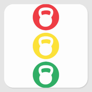 Kettlebell Traffic Light - Ready Set Go Stickers