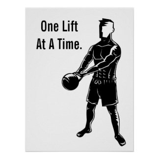 Kettlebell Weights Workout Fitness Motivational Poster