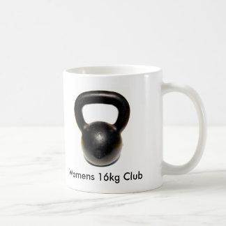 Kettlebell, Womens 16kg Club Basic White Mug