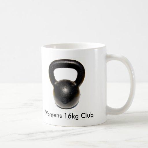 Kettlebell, Womens 16kg Club Coffee Mugs