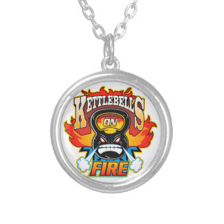 Kettlebells on fire necklaces